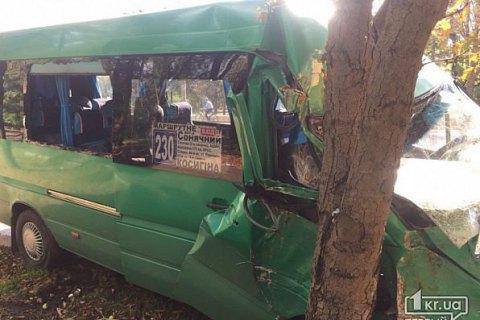 У Кривому Розі маршрутка врізалася в дерево, 11 постраждалих