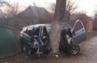 П'ятеро людей розбилися насмерть у селі біля Києва, в машині знайшли недопиту пляшку горілки