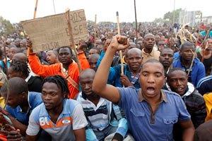 В ЮАР прошла акция протеста шахтеров