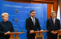 Порошенко зустрівся з президентами Польщі та Литви