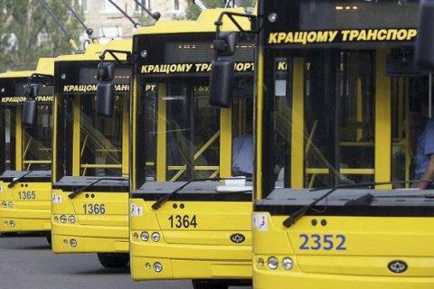 """Киев продлил изменения в движении двух троллейбусов из-за аварии сетей """"Киевводоканала"""""""