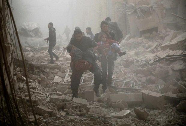 После обстрела в Сирии