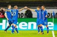 Збірна України поступилася Ісландії 2:0