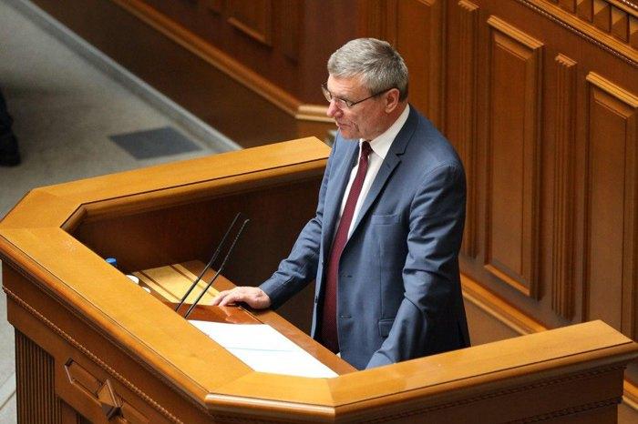 Олег Уруський під час виступу в раді в день призначення на посаду
