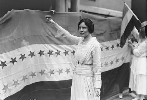 Элис Пол в борьбе за избирательное право для женщин в США