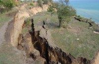 В прибрежной части села Санжейка Одесской области произошел огромный оползень