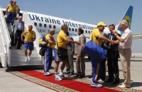 У Донецьку зустріли національну збірну України з футболу