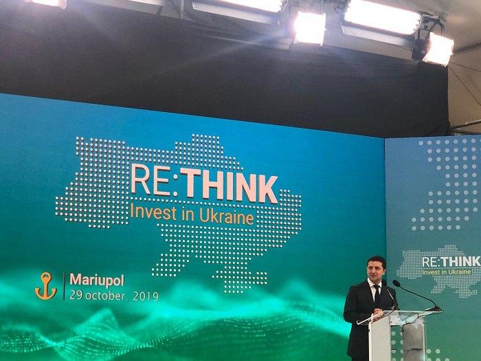 Володимир Зеленський на форумі в Маріуполі