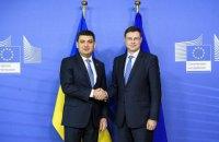 Украина ожидает второй транш от ЕС на 500 млн евро в начале 2019 года