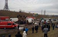 На объездной дороге Львова столкнулись автобус, фура, бус и три легковых авто