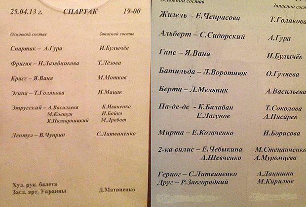 Теперь имя Матвиенко просто замазали на подписанных им составах спектаклей