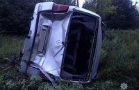 При столкновении двух микроавтобусов под Славянском пострадали шесть человек