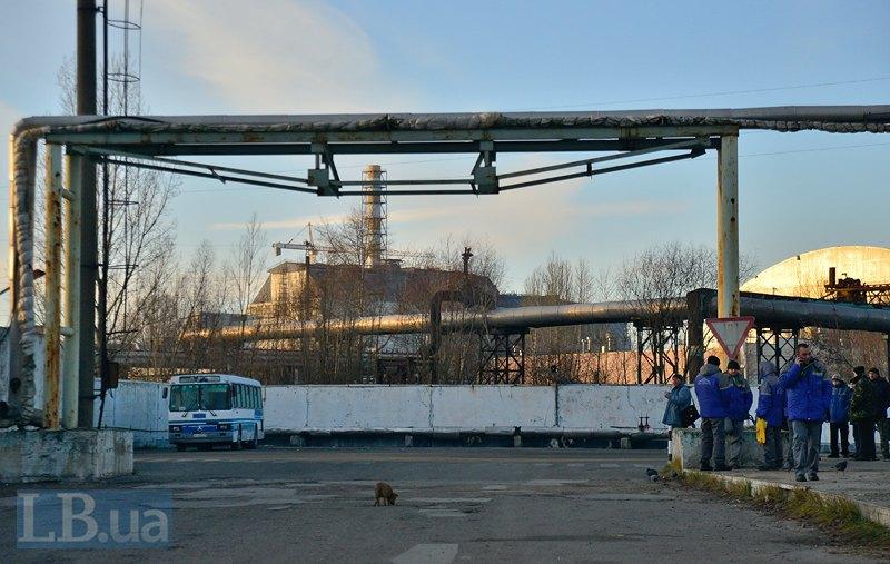 Работники Новарки и ЧАЭС на станции Семиходы