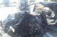При лобовом столкновении в Запорожской области пострадали шесть человек