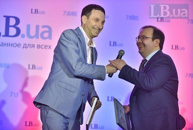 Виталий Портников и главный редактор Lb.ua Олег Базар (справа)