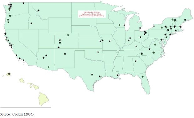 Локальные деньги в американских городах, 1991-2004
