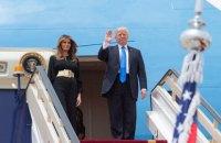 Трамп начал свое первое зарубежное турне с Саудовской Аравии