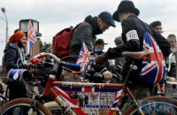Киевляне прокатились на велосипедах в стиле ретро