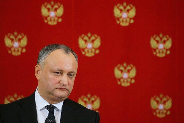 Игорь Додон во время визита в Москву