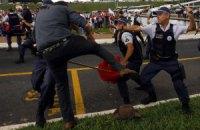 В Бразилии акция протеста обернулась столкновениями с полицией