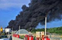 На охопленій полум'ям нафтобазі під ранок прогримів новий вибух (оновлено)