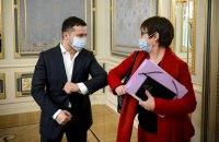 Зеленський зустрівся з президенткою ЄБРР
