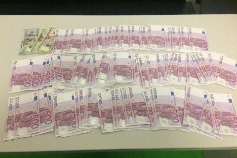 ВБорисполе у жителя России изъяли рекордную партию валюты