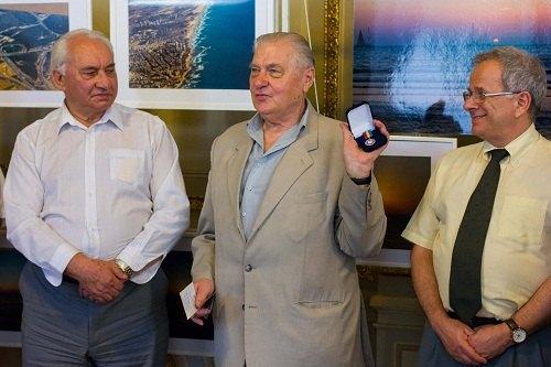 На фото (зліва направо): Ілля Левітас, Дмитро Янко, Іцхак Коган