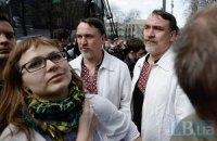 Под Раду снова пришли защитники украинского языка