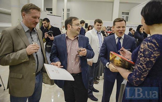 Слева направо: Тарас Чорновол, Олег Базар, главный редактор LB.ua и Олег Ляшко, нардеп, глава <<Радикальной партии>>