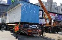 Киевлянин избил коммунальщика во время демонтажа МАФа