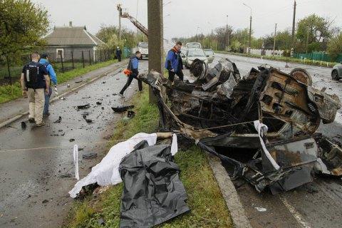 ОБСЄ назвала обстріл причиною загибелі чотирьох осіб в Оленівці (оновлено)