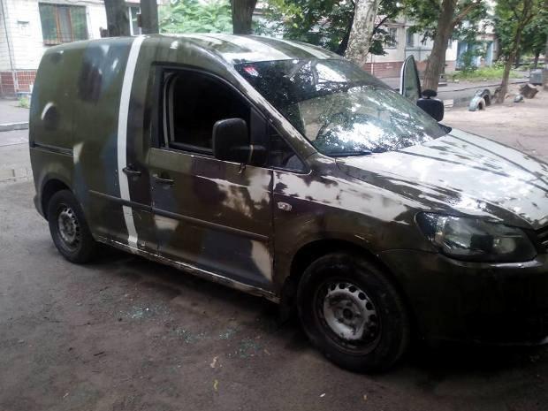 Пограбували автомобіль волонтерів