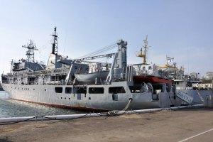 Україна вивела з Криму третє судно ВМС