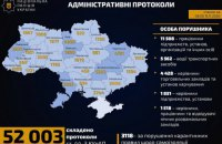 В первый день «карантина на выходных» полиция прекратила работу 1355 учреждений