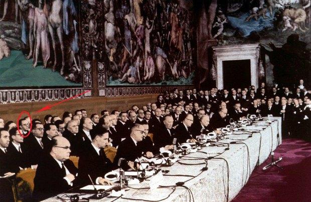 """Подписание """"Римских договоров"""" об учреждении ЕС 25 марта 1957"""