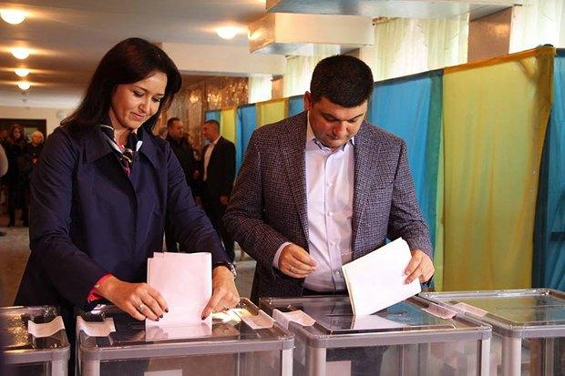 Владимир Гройсман голосует