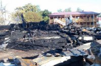 """На месте пожара в детском лагере """"Виктория"""" нашли обгоревшие останки девочек"""