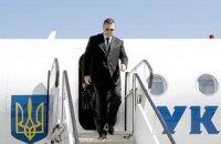 Янукович летит домой