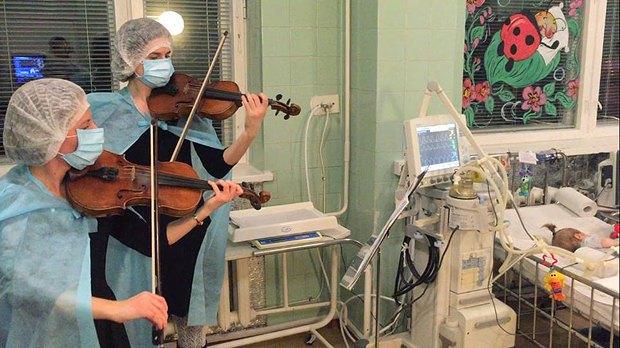 Тихий концерт в реанимации детской областной больницы в Ровно