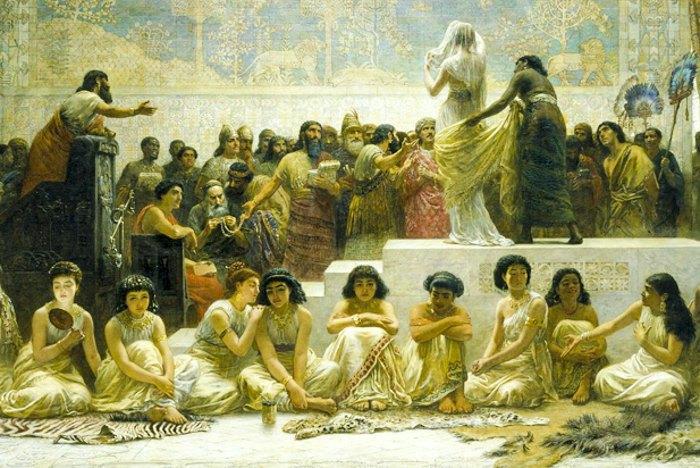 Вавилонський шлюбний ринок. Автор Едвін Лонг.1875