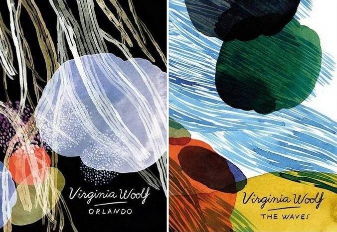 """Серия книг Вирджинии Вульф. """"Орландо"""" и """"Волны"""". Автор обложек: Сюзанне Дин"""