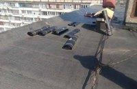 На крыше многоэтажки в Киеве взорвался газовый баллон, пострадали два человека