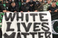 Фанаты клуба Сергея Реброва вывесили во время матча чемпионата Венгрии баннер White Lives Matter