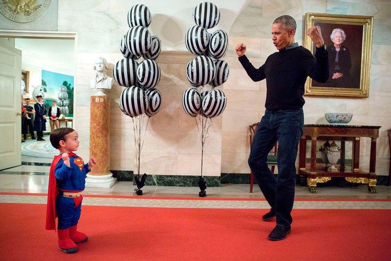 Празднование Хэллоуина в Белом доме. 31 октября 2016 года
