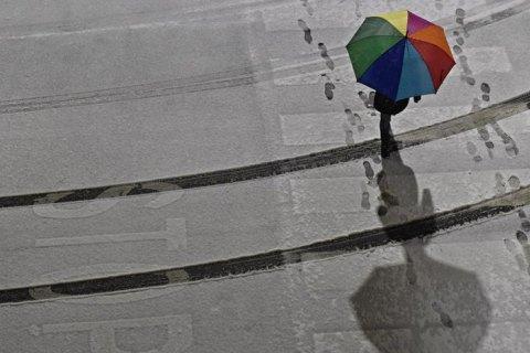 В среду в Киеве обещают небольшой дождь и мокрый снег