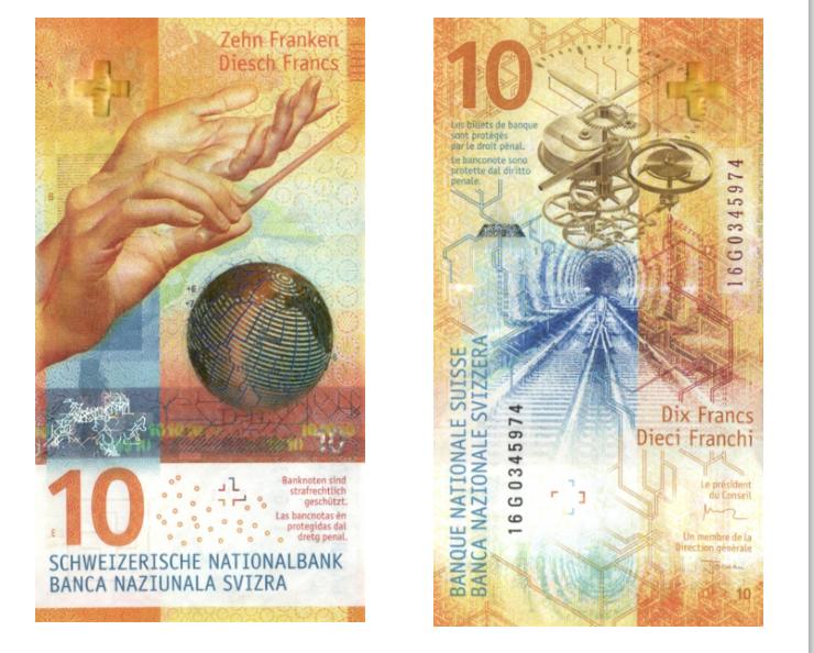 10 швейцарских франков признаны самой красивой банкнотой 2017 года ... b50f775f8ca