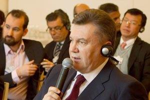 Янукович: немецкие банки заинтересованы в проектах, связанных с газотранспортным консорциумом
