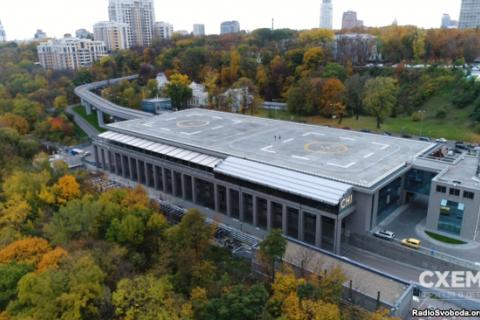 Вертолетная площадка Януковича оказалась не подконтрольной государству