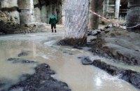Через нічну зливу в Києві на Поштовій площі знову підтопило розкопки